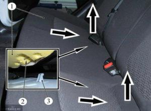 Как правильно снять заднее сиденье на Ладе Веста