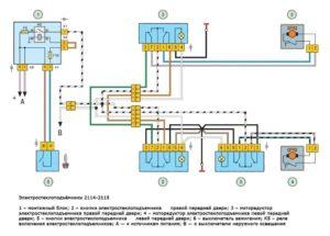 Схема подключения стеклоподъемников на ВАЗ-2114