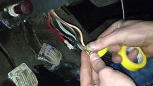 Как быстро завести ВАЗ-2106 без ключа зажигания