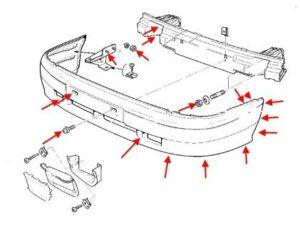 Как самостоятельно снять задний бампер на ВАЗ-2114